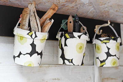 Upcycled Deisgner Storage Buckets