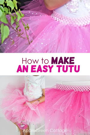 The Easiest Tutu Skirt You Can Make Now!