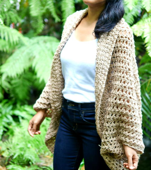 Toasted Honey Cocoon Cardigan