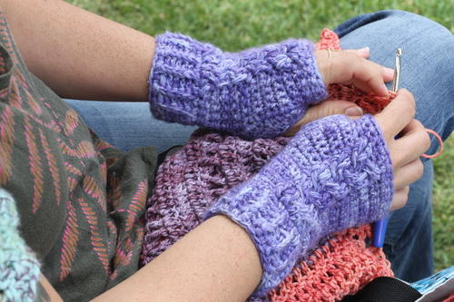 Braided Cable Wrist Warmers