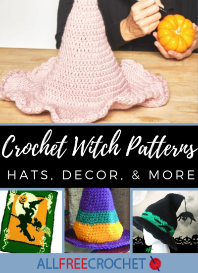 31 Crochet Witch Patterns Hats Decor and More