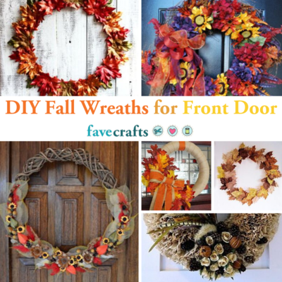 DIY Fall Wreaths for Front Door