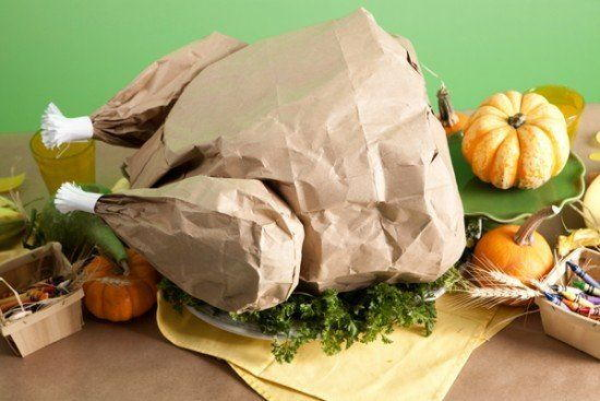 Paper Bag Turkey with Popcorn Stuffing