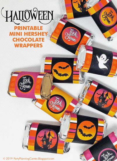 Printable Halloween Hershey Bar Wrappers