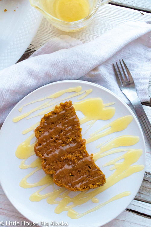 Steamed Pumpkin Pudding with Vanilla Hard Sauce