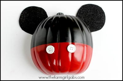 Mickey Mouse Halloween Wall Art Pumpkin