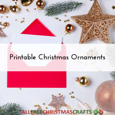 Printable Christmas Ornaments Lead Image