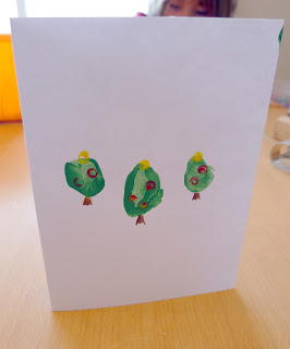 Thumb Print Christmas Tree Cards