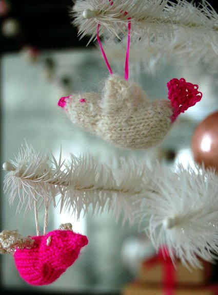 Holiday Bird Ornaments