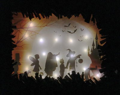 Lighted Halloween Door Canvas