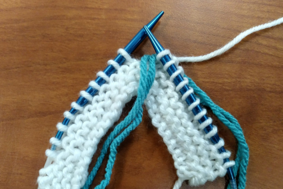 Roositud Knitting on the Right Side Step 2