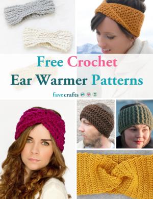 Crochet Dark Fox Ear Warmers