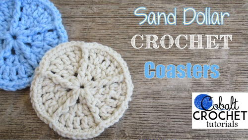 Sand Dollar Crochet Coasters