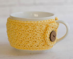 Lemon Peel Soup Mug Cozy