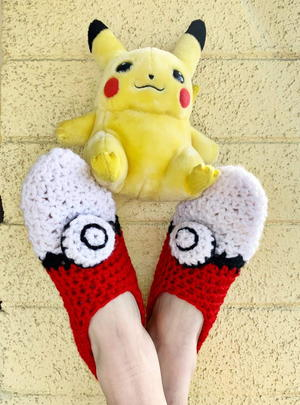 Pokeball Slippers
