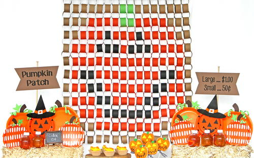 Pumpkin Paper Chain Backdrop