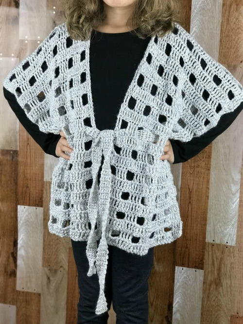 Belted Poncho for Kids