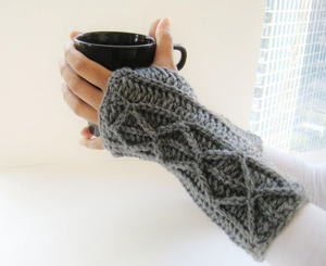 Lightning Fast Fingerless Mitts