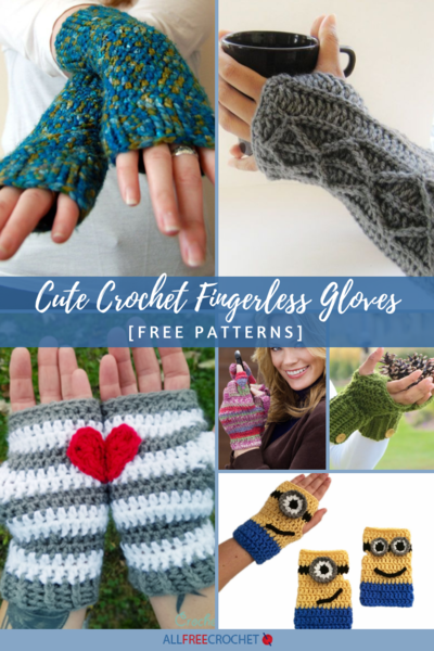 50+ Cute Crochet Fingerless Gloves [Free Patterns