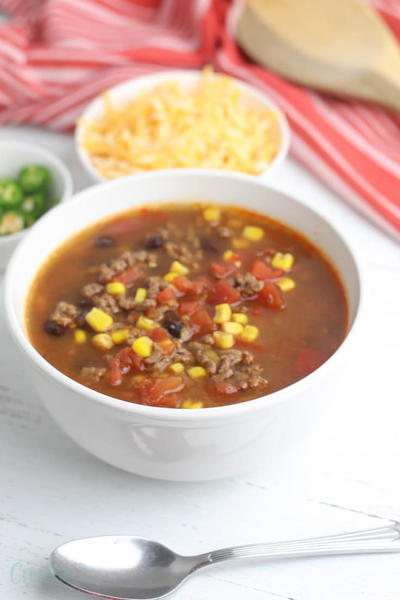 Easy Taco Soup Recipe with Chilis