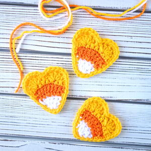 Crochet Candy Corn Applique
