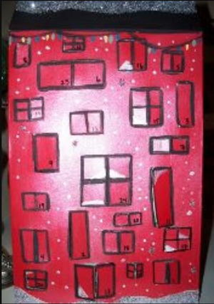 Cereal Box Advent Calendar House