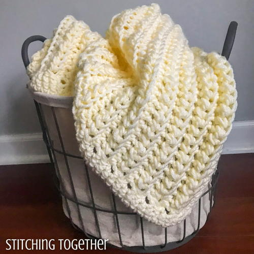 Squishy and Chunky Crochet Baby Blanket