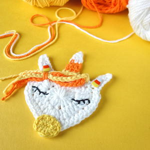 Candy Corn Uni-corn Applique