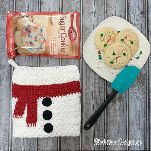 Snowman Belly Pot Holder