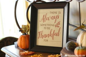 Always Thankful Free Printable