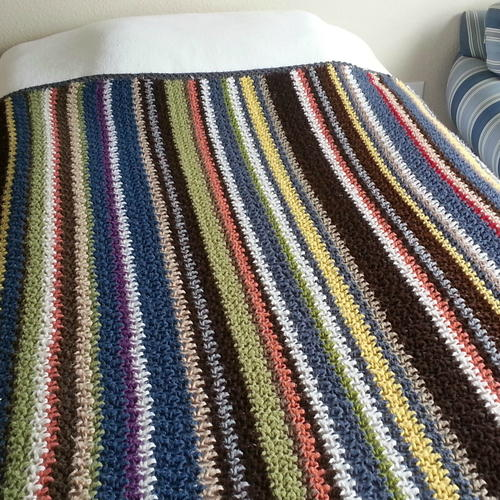 Striped Stash Buster Blanket