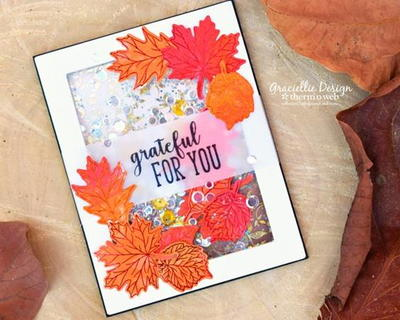 Thankful Leaves DIY Shaker Card