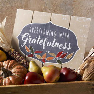 Overflowing with Gratefulness DIY Autumn Sign