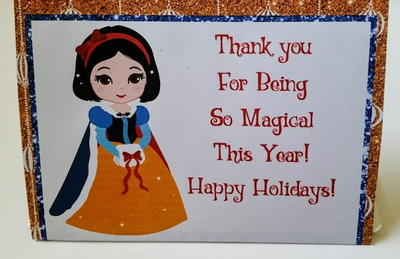 Disney Inspired Holiday Princess Printable Gift Card Holders