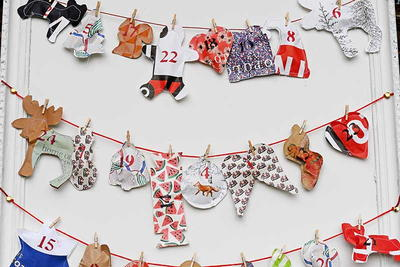 Repurposed Paper Bag Advent Calendar
