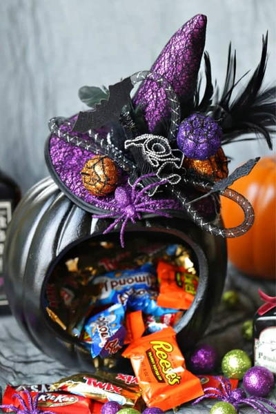 Witch Pumpkin Candy Holder