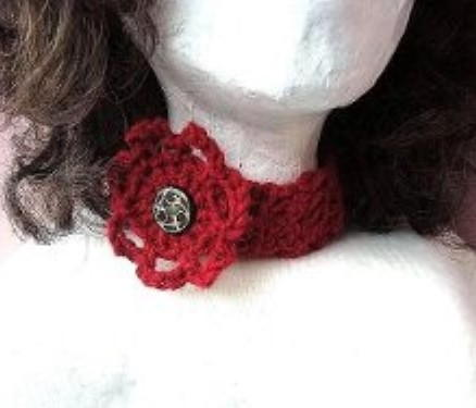 How to Crochet a Choker or Headband