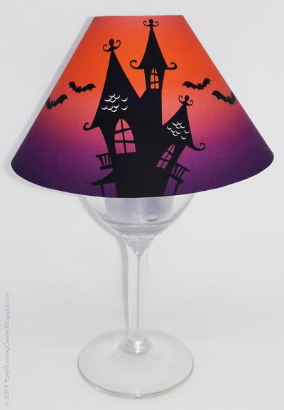 Haunted House Wineglass Lampshade