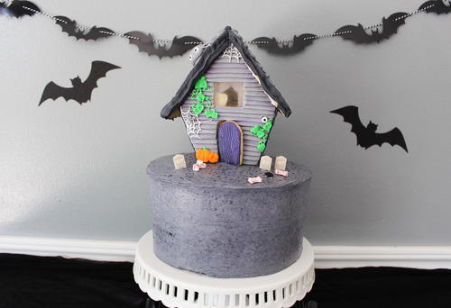 Sugar Cookie Haunted House Cake Topper