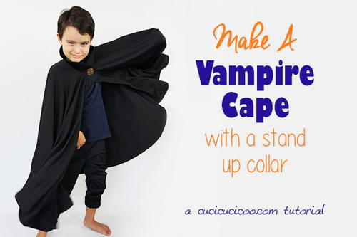Sew a Halloween Vampire Cape with a Rigid Collar