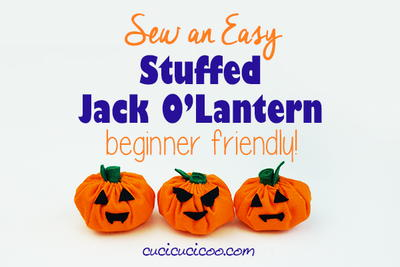Easy Jack O Lantern Softie for Kids to Sew