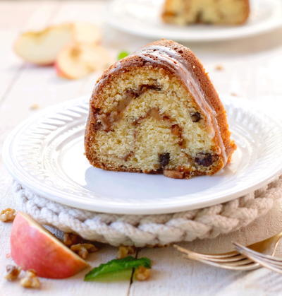 Old Fashioned Sour Cream Cake with Apple Nut Filling