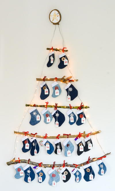Denim Stocking Advent Calendar