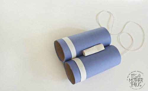 Weather Watcher – Construction Paper Binoculars Kid Craft + Free Printable
