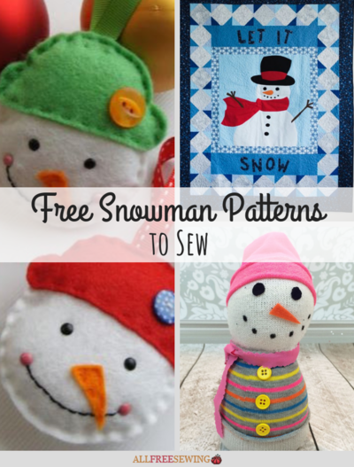 15 Free Snowman Patterns to Sew