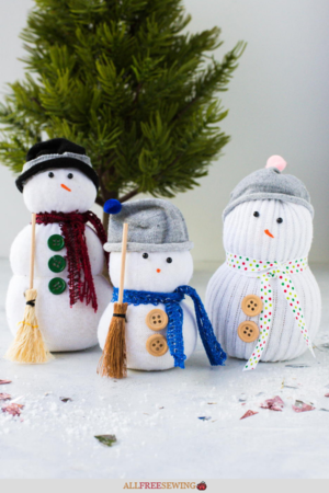 Easy Sock Snowman Tutorial