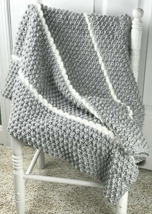 Cobbles & Cables Baby Blanket