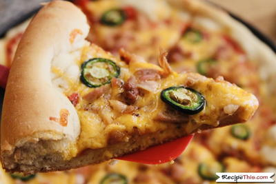 Bread Maker Jalapeno Popper Pizza
