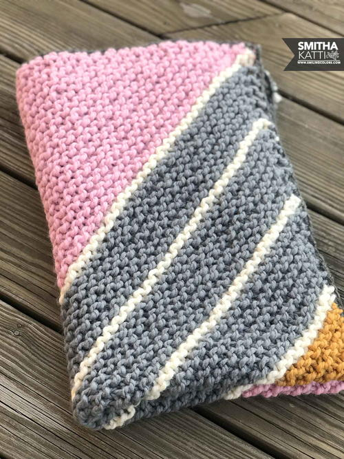 Knit Rectangle Baby Blanket