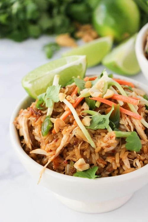 Instant Pot Thai Chicken Rice Bowls